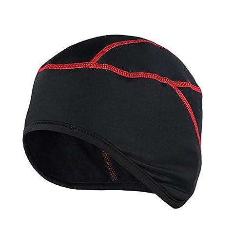West Radfahren Bike Kopfbedeckung Thermo Rad Skull Cap Helm Liner Fahrrad Fleece Mütze für Winter rot rot Free Size