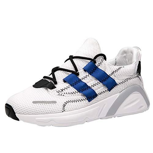 Knowin Mesh-Schuhe Atmungsaktive rutschfeste Laufschuhe Sportschuhe Freizeitschuhe Erwachsene Straßenlaufschuhe Bequem Ultra-Light Laufschuhe Sneakers Joggingschuhe Athletic Flat Running Schuhe