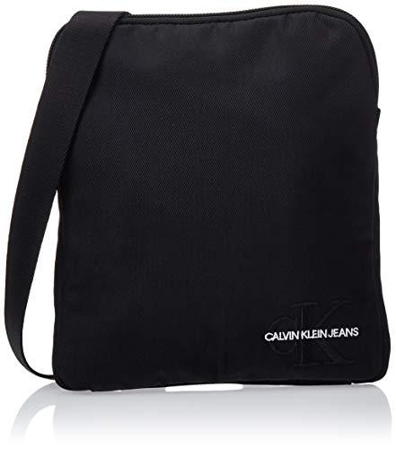 Calvin Klein Herren Monogram Nylon Micro Flatpack Taschenorganizer, Schwarz (Black), 2x21x18 cm -