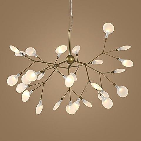 Post Modern LED lustre Creative lucioles pendentif lumières personnalité branches art lampes pour salon chambre à coucher et restaurant , warm light , 27 lights