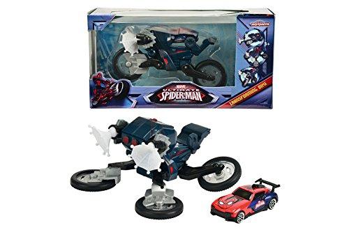 Ultimate Spiderman - Transforming Bike, moto y coche (Majorette 3089835)