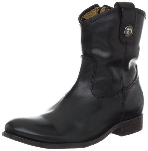 frye-melissa-button-shortie-donna-nero-pelle-stivali-cowboy-taglia-eu-37
