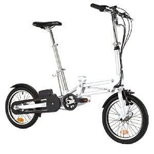 Mobiky Tech 16' YOURI 3v 5,5 Ah Vélo pliable électrique Blanc 85x85x32