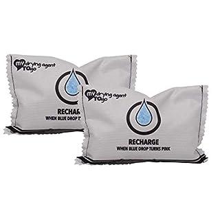 Spar Packung, Luftentfeuchter mit Sensor (2 STÜCK) regenerierbar My Drying Agent to GO Duo neutralisiert hohe Luftfeuchtigkeit, ideal für Abstellräume, Kleider-Schränke, Camper, Garage, Wohnung