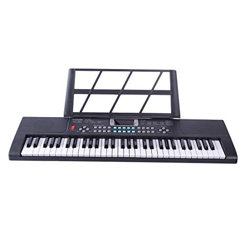 Haunen Klavier für Kinder, 61 Tasten Kinder Keyboard mit Mikrofon Spielzeug Klavier Keyboard Elektronische Orgel Musik Karaoke Mikrofon Kinder (61 Tasten Keyboard Klavier)