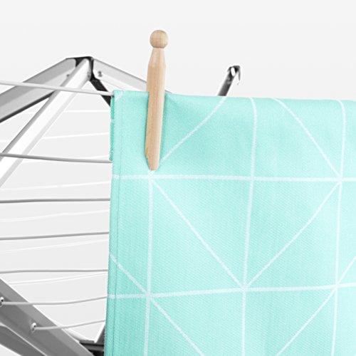Brabantia 375842 tendedero ropa plegable de pared con - Tendedero ropa plegable ...