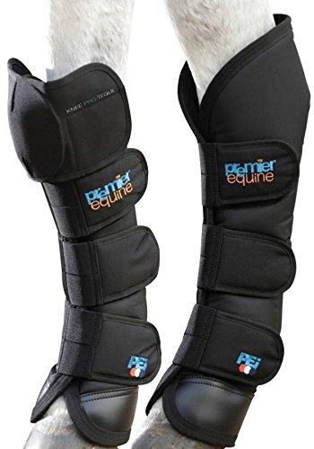Premier Equine Knee Pro-Teque Ballistic Horse Travel Boots Transportgamaschen Farbe schwarz, Größe L