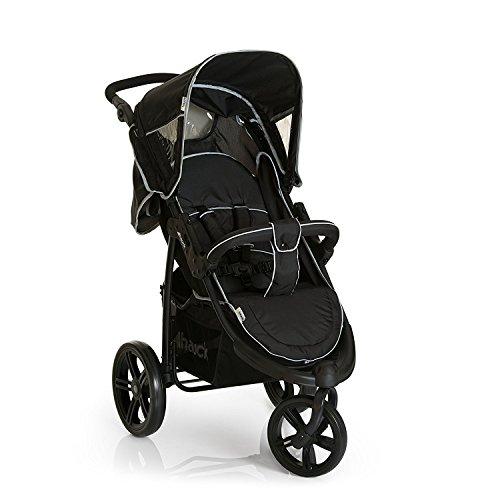 Hauck Viper SLX Trio Set - Carro deportivo de bebes 3 piezas de capazo, sillita y Grupo 0+ para recién nacidos hasta bebes / niños de 15 kg, sistema de arnés de 3 y de 5 puntos, color Caviar Grey