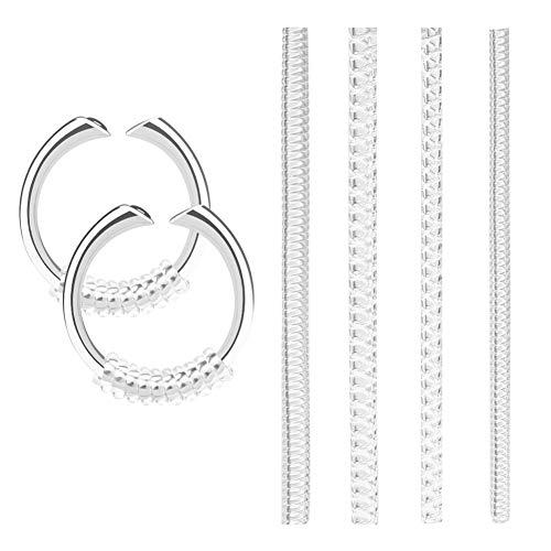 Cizen Stringi Anello, 16Pz Riduttori per Anelli, Regolatore Anello Invisibile per Anelli Larghi (4 Dimensioni: 1,5mm/ 1,8mm/ 2,7mm/ 2,8mm)