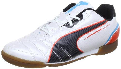 Puma  Universal IT Jr, Chaussures indoor enfant mixte Blanc - Weiß (metallic white-black-hawa 03)