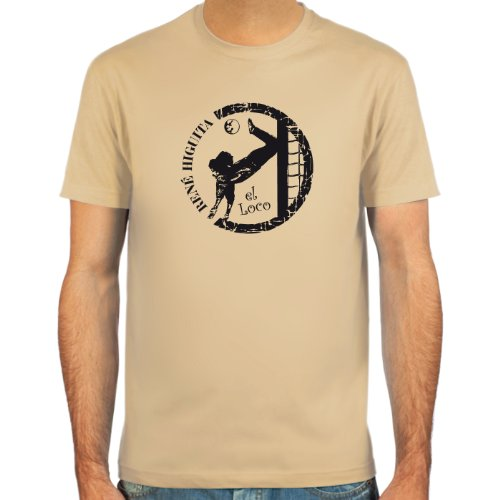 SpielRaum T-Shirt René Higuita ::: Farbauswahl: skyblue, sand, weiß oder deepred ::: Größen: S-XXL ::: Fußball-Kult
