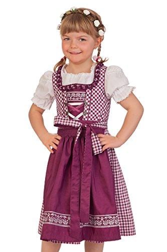 M.Stützle Trachten Kinderdirndl 3tlg. - AUGUSTINE - beere, Größe 164