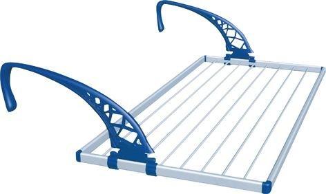 Stendibiancheria x Balcone struttura alluminio bracci resina ''NUMERO 1'' 60X110Cm