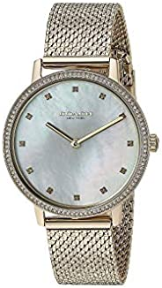 Coach Womens Quartz Watch, Analog Display and Stainless Steel Strap 14503359