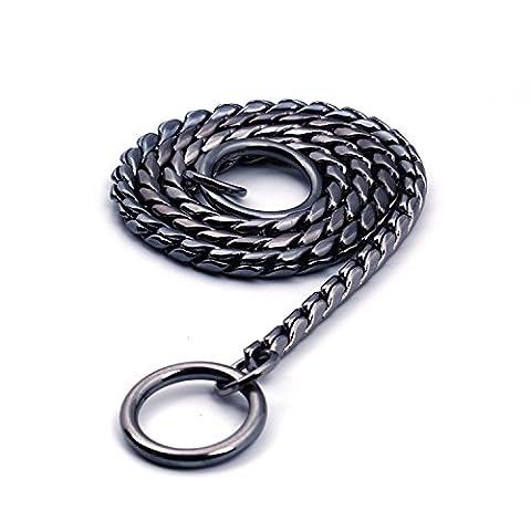 Petcomer Heavy Duty Métal Serpent Collier étrangleur pour animal domestique Command Obéissance Collier semi-étrangleur d