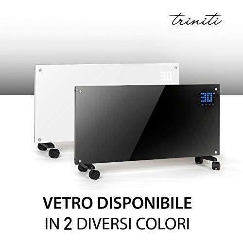 Pannello Termoconvettore Riscaldamento Elettrico Triniti Radiatore In Vetro A Convezione 1000-2000 W...