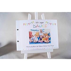 Abschieds - Geschenk für Lehrer, Abschiedsalbum, Softcover Din A4 Querformat