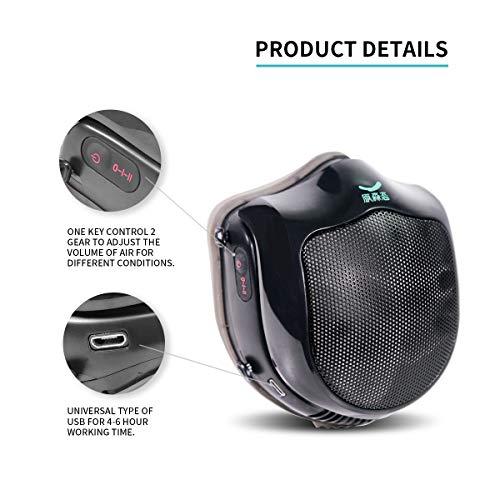 Elektrische Staubmaske, Atemschutzmaske mit Aktivkohlefilter Q5S N95, automatische staubdichte Frischluftreinigungsmaske für Allergien gegen Pollen, Staub, Abgas, pm2.5