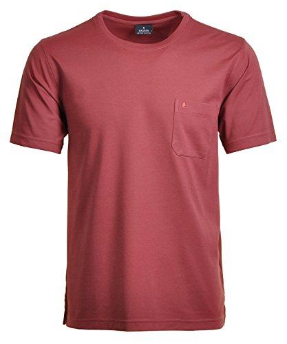 RAGMAN Herren RAGMAN T-Shirt Softknit uni, Pflegeleicht Himbeere-068