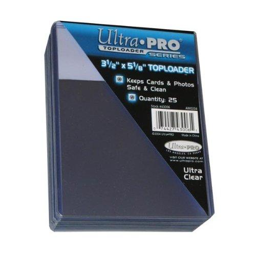 25 Ultra Pro 3.5 x 5.125 Toploader Top Loader - Photo Card Holder - Foto Karten Halter - 43006 - Top-loader