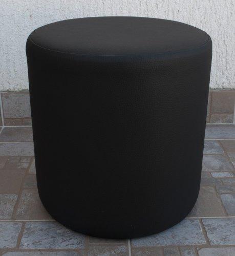 Sitzhocker rund Schwarz Ø 34 cm x 34cm