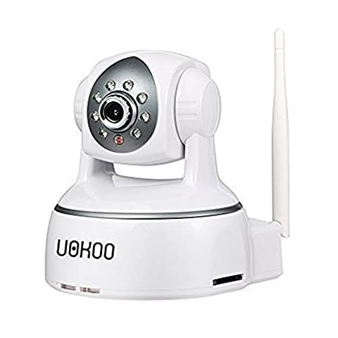 Security Camera, UOKOO 720P Indoor WiFi Network Video Wireless IP Camera with Pan/Tilt, Two-Way Audio, Night Vision, Remote Monitoring White