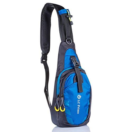 Schleuder-Tasche-Chest-PackMultiple-Storage-Zweck-Umhngetasche-Tragen-Styles-fr-Outdoor-Sportarten-Reisen-nylon-fabric-blue-by-LC-Prime
