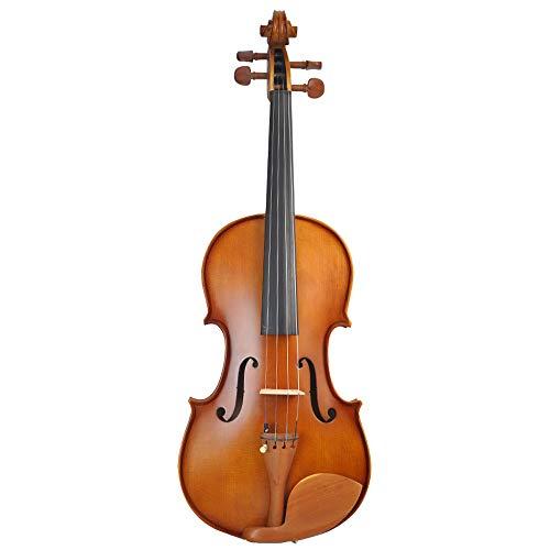 Miiliedy bella in legno massello a mano per principianti prestazioni per adulti per bambini pratica strumenti musicali professionali con violino box arco di colofonia (color : coffee color-1/4)