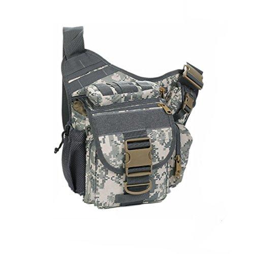 YAAGLE Tarnung satteltasches Paket bauchtasche gürteltasche hüfttasche Umhängetasche Kameratasche Outdoor Schultertasche militärisches satteltasches Paket-Tarnung 4 Tarnung 4