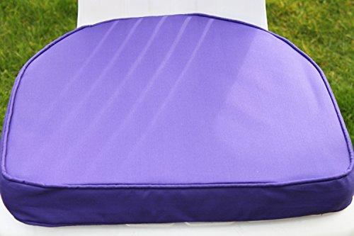 Coussin pour mobilier de jardin - Coussin arrondi pour fauteuil de jardin en plastique, coloris violet