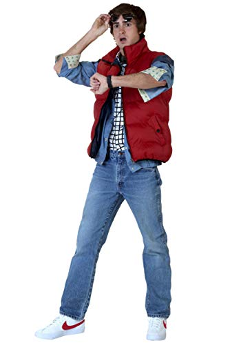 (Back to The Future Marty McFly Men's Plus Size Fancy Dress Costume 3X)