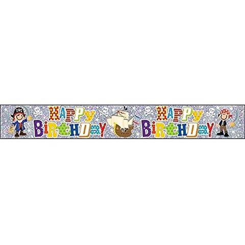 Simon Elvin - Pancarta / guirnalda decorativa con texto Happy Birthday para niños (Talla