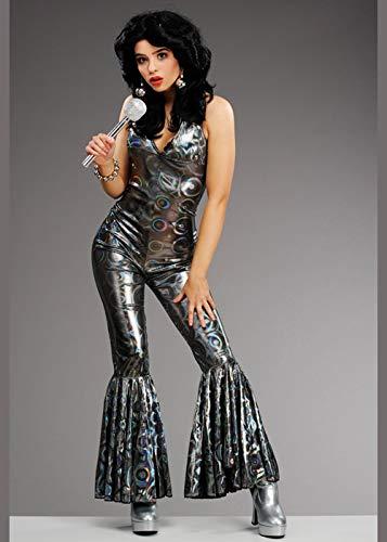Magic Box Int. Damen Disco Diva Catsuit Kostüm für Damen aus den 70er Jahren Small (UK ()