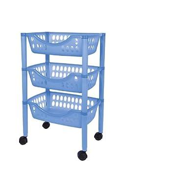 Badezimmer Trolley / Badezimmer Rollwagen Kunststoff In Verschiedenen  Farben (blau)