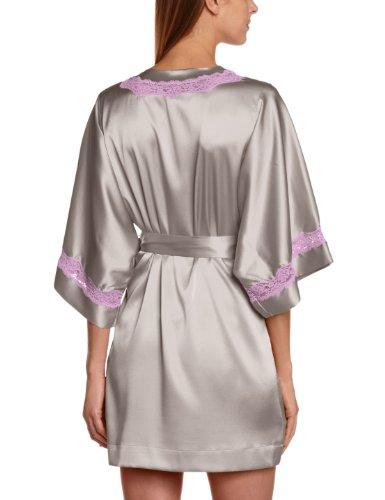 Vannina Vesperini Peignoir - Kimono - Uni - Femme Gris (Lune/Iris)