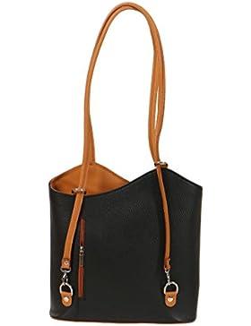 malito Damen Handtasche aus Leder   Shopper in Glattleder   Tasche mit Reißverschluss  Schultasche – longchamp...