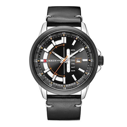 xisnhis schöne Uhren curren8307 männer Quarz auf automatische Datum Woche Farbe gürtel wache