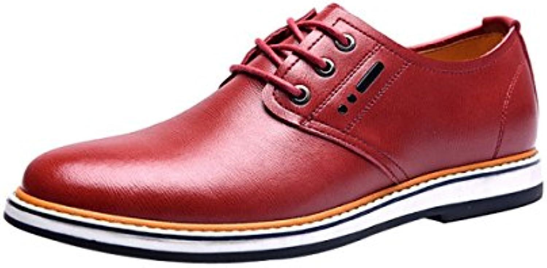 Hombres Casual Cuero Tacón Plano Redondo Juventud Zapatos