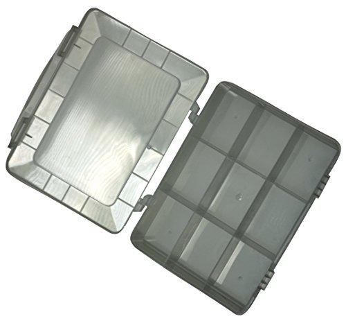Preisvergleich Produktbild Aerzetix: Transparenter Box Organizer 180x149x40mm mit 9 Kunststofffächern C17608