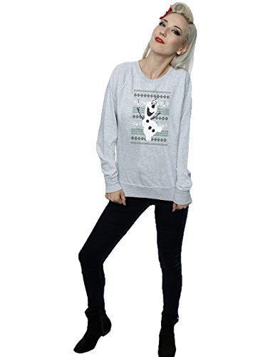 Disney Femme Frozen Christmas Olaf Dance Sweat-Shirt Heather Gris
