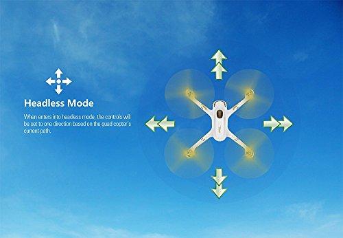 Hubsan H501S X4 Brushless FPV GPS Quadrocopter 5.8 Ghz Drohne mit 1080P Full HD Kamera und Follow-Me Modus RTH-Funktion Weiß&Gold - 6