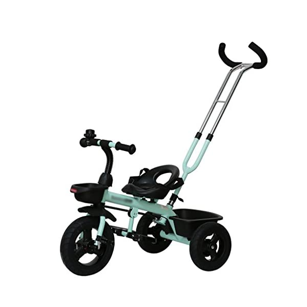 Baby Kids Children Toddler Detachable Tricycle Ride on Pedal Trike Bike 3 Wheels Bike 2-5 Years (Color : Light Green) DUOER-Pushchairs Material: Aluminum +ABS+Inflatable Titanium Wheel. Suitable for children 2-5 years old, Maximum Load 25kg. The Push Rod can be adjusted Three Height, need not install Steering Rod, also can let Mother adjust to suit Height. 1