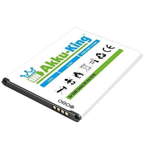 Akku-King Li-Ion Akku (2100mAh) für Samsung Galaxy S4 Mini i9190/i9192/i9195/i9198