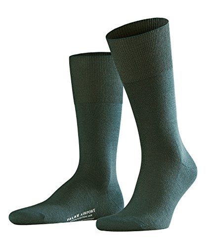 FALKE Airport, Chaussettes montantes Homme, Grün (Marble 7991), 45-46 (Taille fabricant: 45-46)