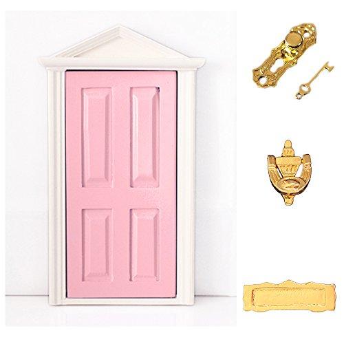 Sharplace Scala 1:12 Porta Mobili In Legno Per Casa Delle Bambole Mini Camera Stanza Accessori - Rosa