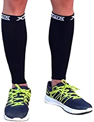 Medias de compresion unisex negro, alivio de dolores, recuperación más rápida, evita la fatiga. Calcetines para Running, Cycling, Triathlon (L/XL)