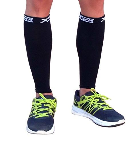 Medias de compresion unisex negro, alivio de dolores, recuperación más rápida, evita la fatiga. Calcetines para Running, Cycling, Triathlon (S/M)