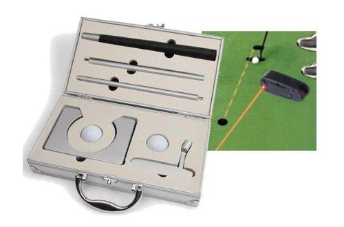 CEBEGO Profi Golf-Uebungsset mit Golf-Puttingset im Koffer und Golf Laser-Putting Hilfe, Golfgeschenke Golftraining Golfzubehör
