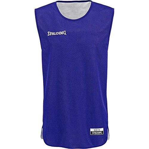 Spalding Doubleface Kids Set, Conjunto reversible camiseta y pantalones de baloncesto para Unisex-Niños, Azul/Blanco (Royal/White), 2XS