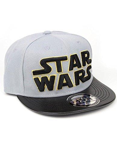 Star Wars Herren Snapback Cap - Classic Logo Baseball Cap Grau Gold